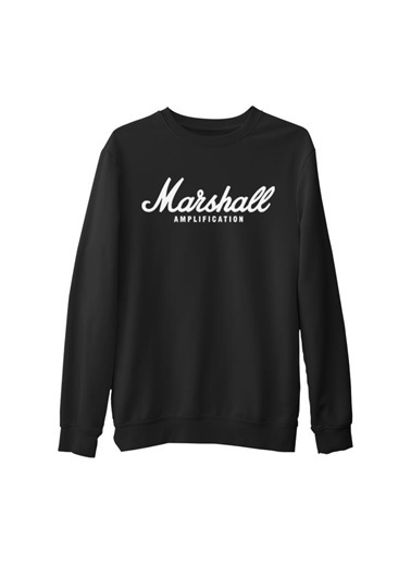 Lord Tshirt Marshall Amplification  Siyah Erkek Kalın Sweatshirt Siyah
